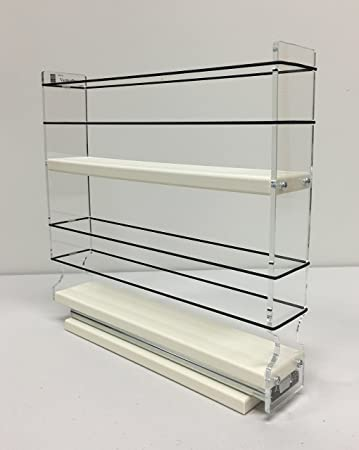 Vertical Spice - 2x2x11 DC - Spice Rack Narrow Space - 12 Capacity - Drawer  Access