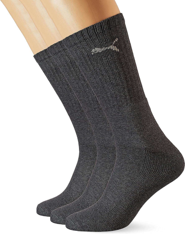 Puma Sport 3P, Calcetines de Deporte Para Hombre, Pack de 3