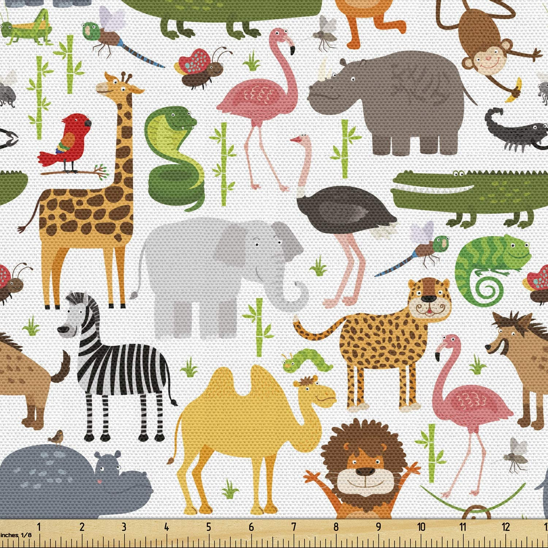 Jungle zebra safari fabric applique iron on animal  3 inch