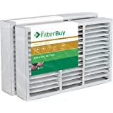 FilterBuy 16x25x5 Honeywell FC200E1029 Compatible Pleated AC Furnace Air Filters (MERV 11, AFB Gold). Replaces Honeywell…