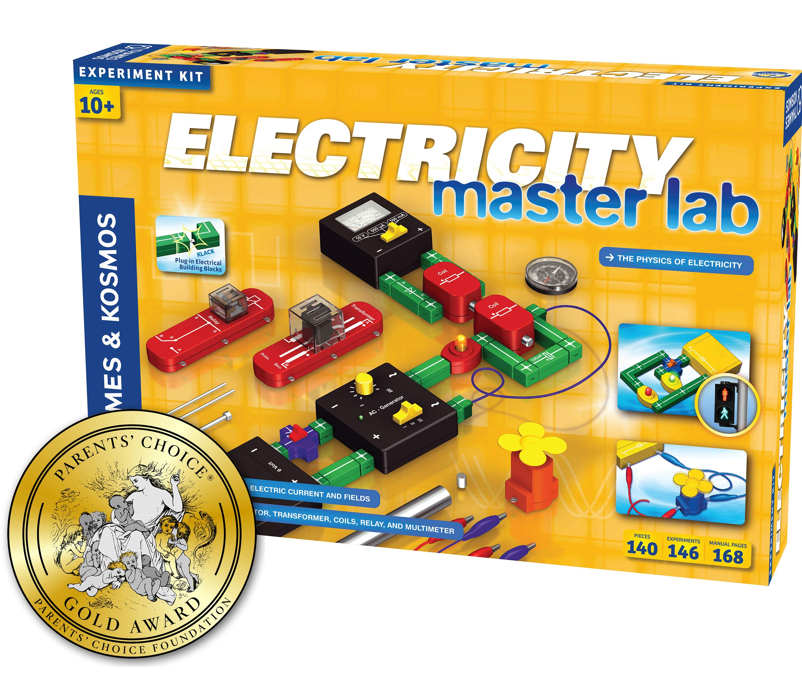 Thames & Kosmos Electricity: Master Lab Science Kit | 119 Experiments | Alternating Current, Direct Current, Electrical Engineering, Circuitry, More | Parents' Choice Gold Award Winner