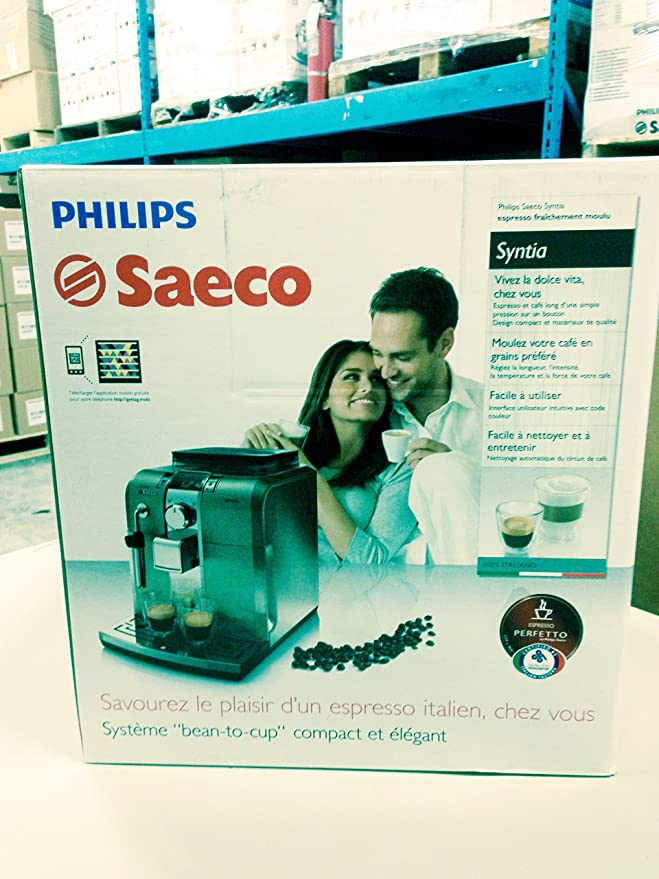 Amazon.com: Philips Saeco Syntia HD8837/47 Acero Inoxidable ...