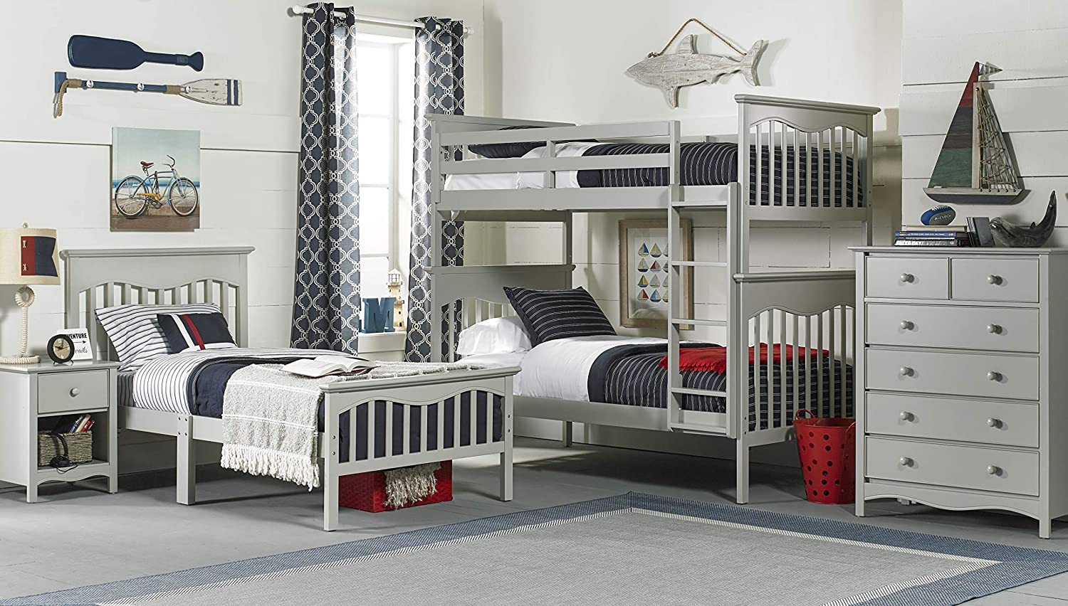 Frosted White Ti Amo Hana Twin//Twin Bunk Bed