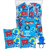 Ring Pop Individually Wrapped Blue Raspberry Party Pack – 30 Count Blue Raspberry Flavored Candy Lollipop Suckers - Blue…
