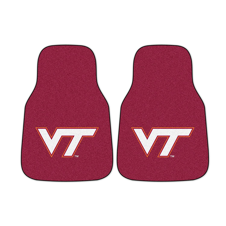 FANMATS NCAA Virginia Tech Hokies Nylon Face Carpet Car Mat