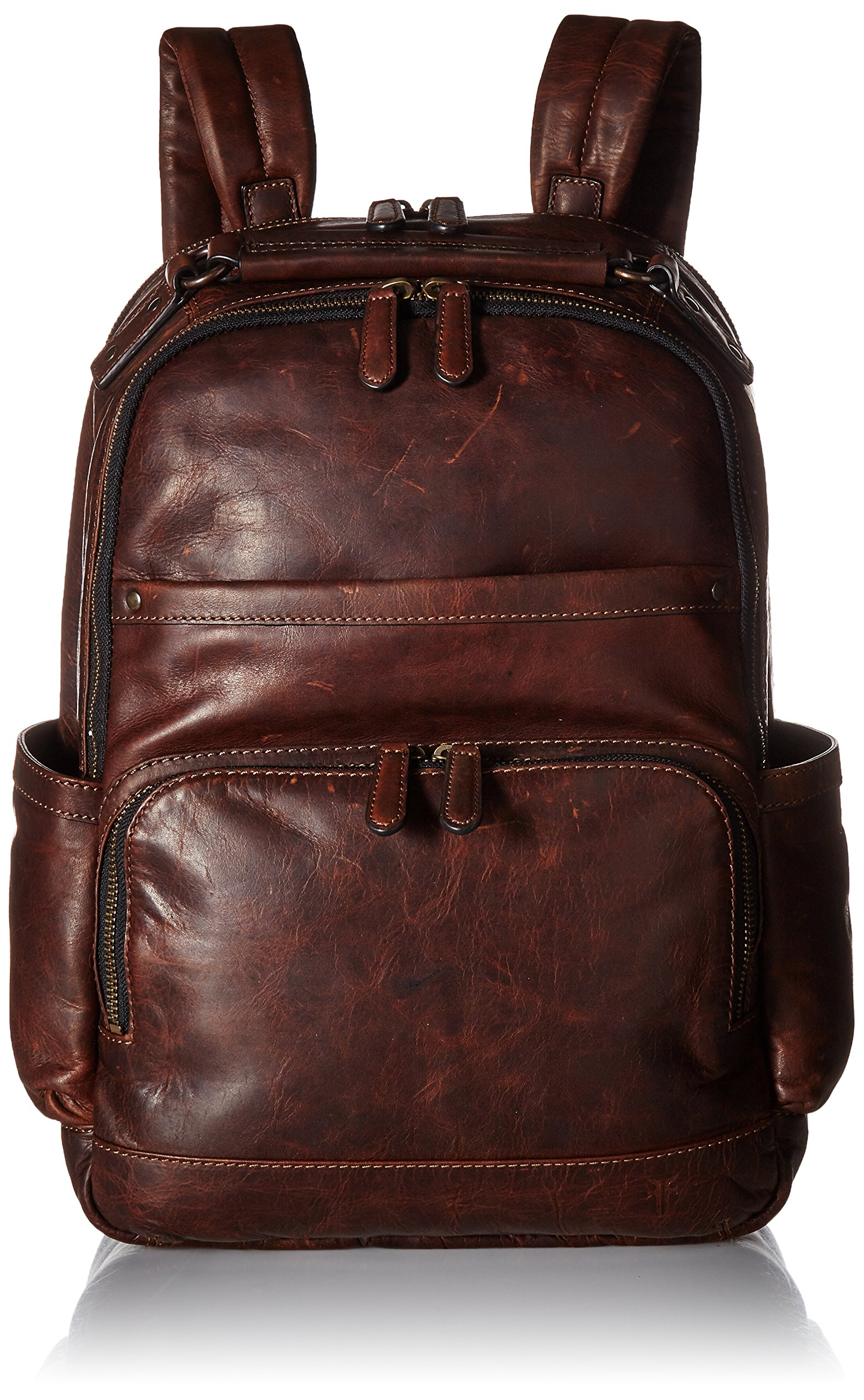 FRYE Men's Logan Antique Pull Up Backpack, Dark Brown, One Size