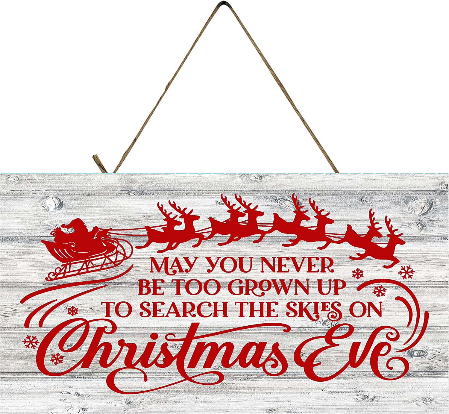 Christmas Decor Hanging Wood Wall Sign (Red May You Never)