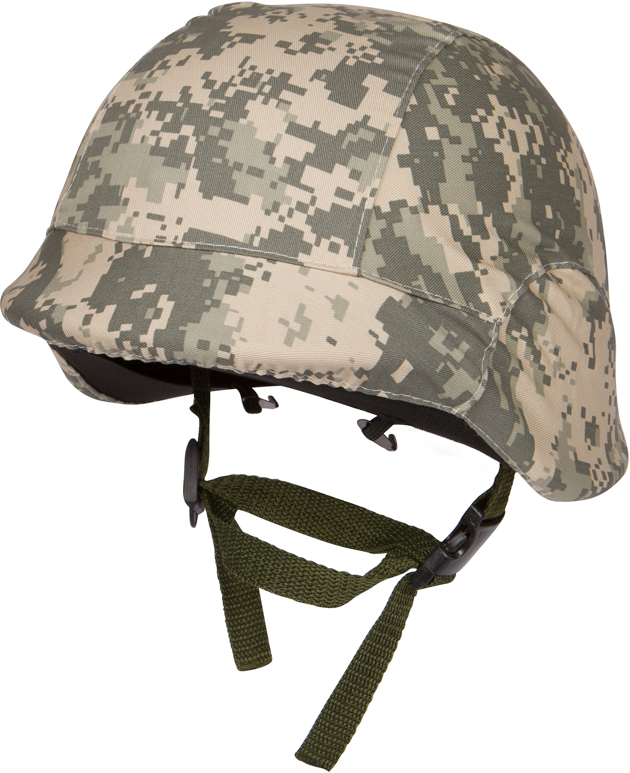Modern Warrior Tactical M88 ABS Tactical Helmet with Adjustable Chin Strap, Digital Camo
