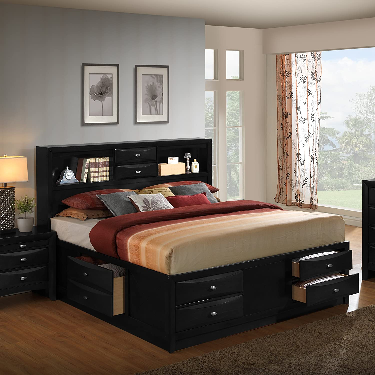 white ana beds size with queen drawers fillman projects diy drawer storage bed