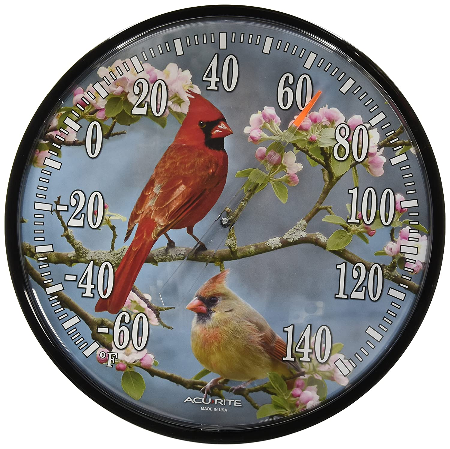 AcuRite 01597 12.5-Inch Wall Thermometer, Cardinals Chaney Instruments