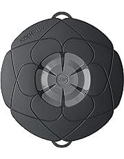 Kochblume Original Überkoch-Schutzdeckel mittel (Gundel) Farbe: schwarz-grau