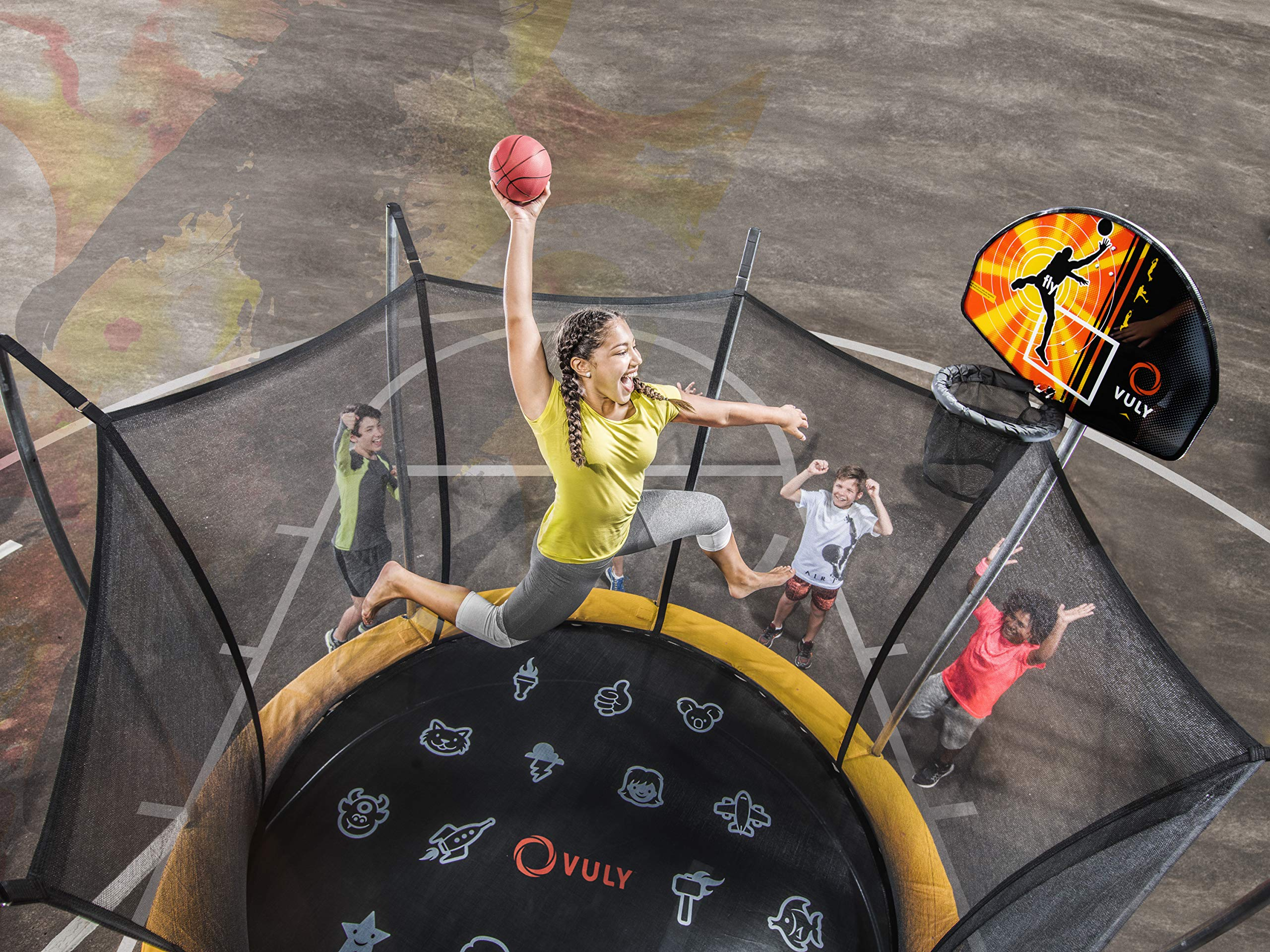 Vuly Basketball Hoop and Ball Set Compatible Trampolines 360 Swingsets by Vuly (Image #3)