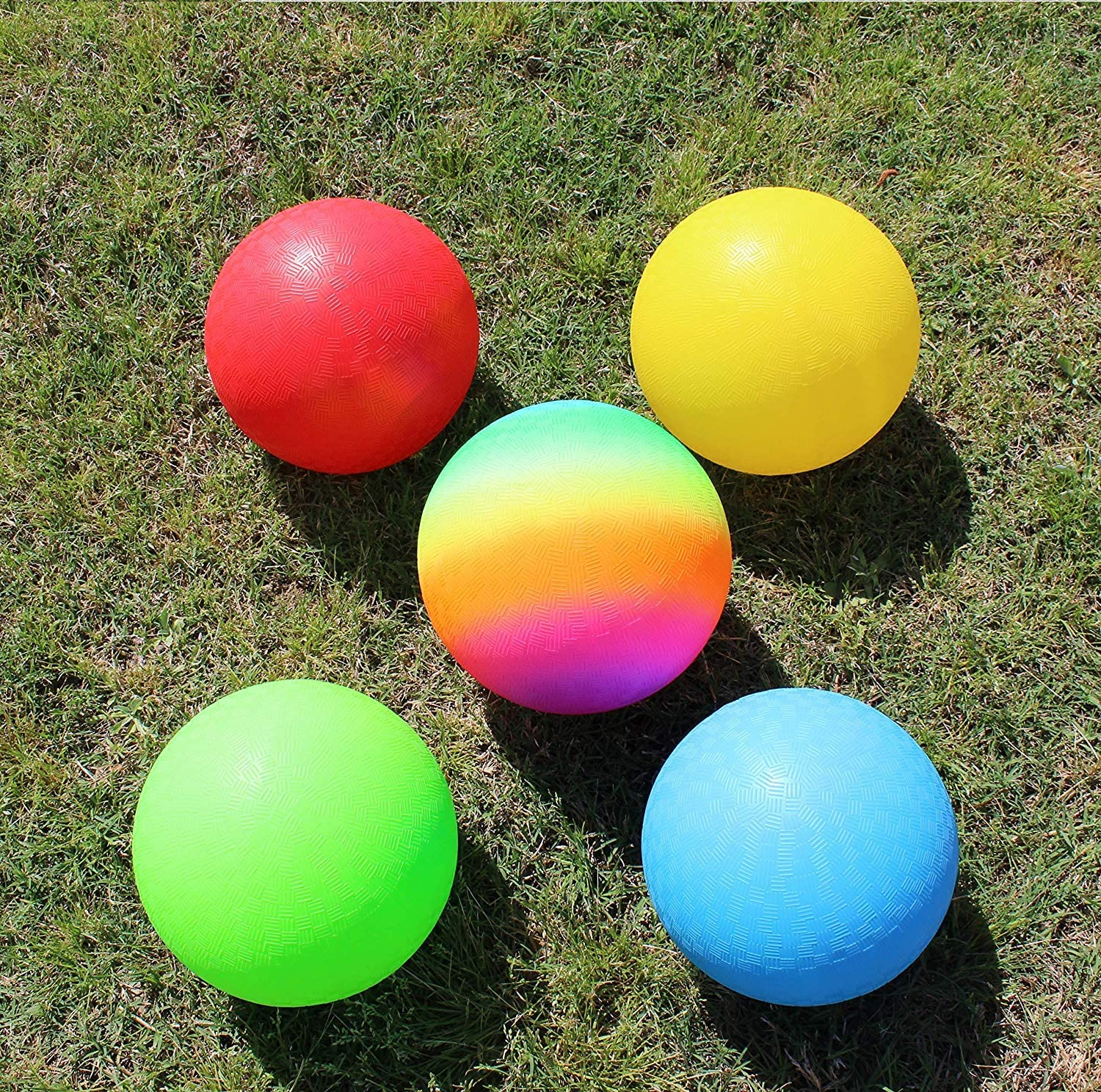 butterfunny 4 Pack 9 Playground Balls Dodgeball Kickball Outdoor Ball for Kids and Adults