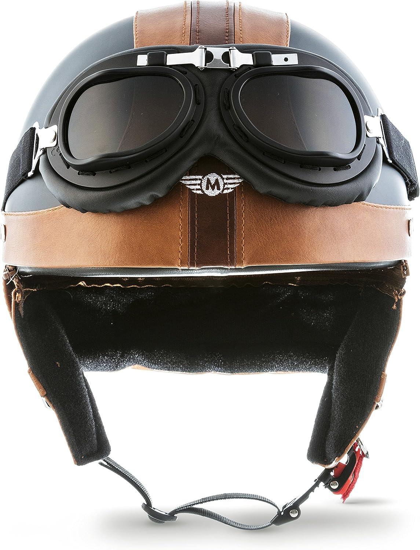 White MOTO Helmets D22 Jet Helmet Half Shell M 57-58cm