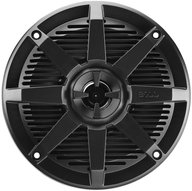 5.25 in. 2-Way Full-Range Marine Speakers in Black Petra Industries MR52B