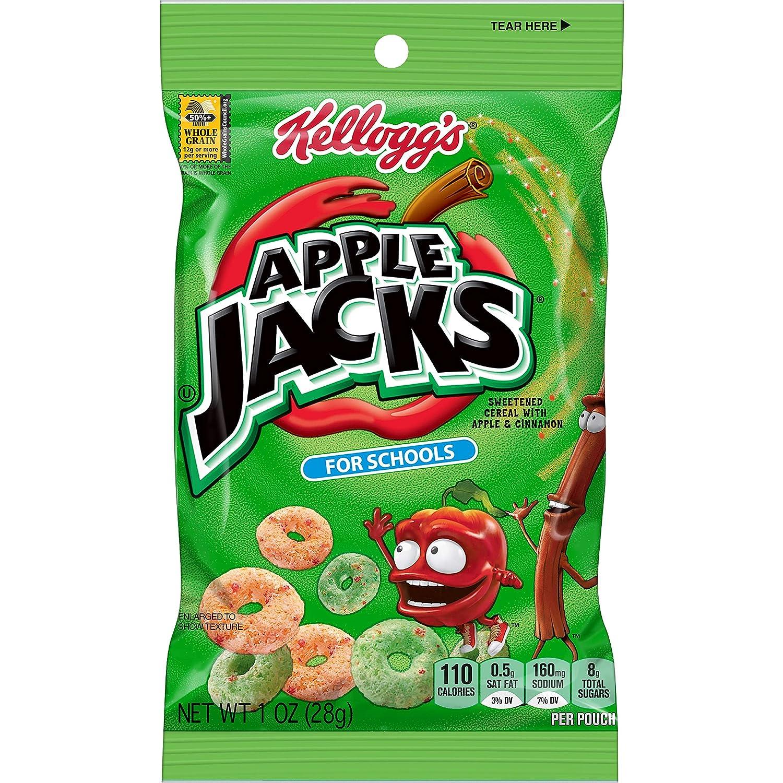 Kellogg's Apple Jacks For Schools, Breakfast Cereal, 1oz (96 Count)