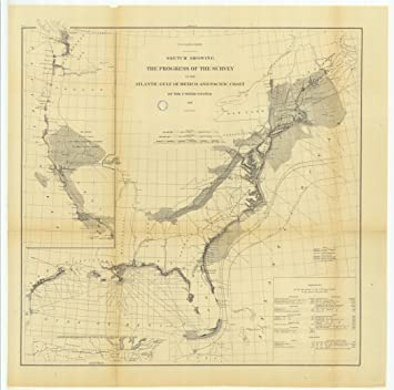 18 X 24 Canvas 1878 New Hampshire Old Nautical Map Drawing Chart Of Sketch Showing The