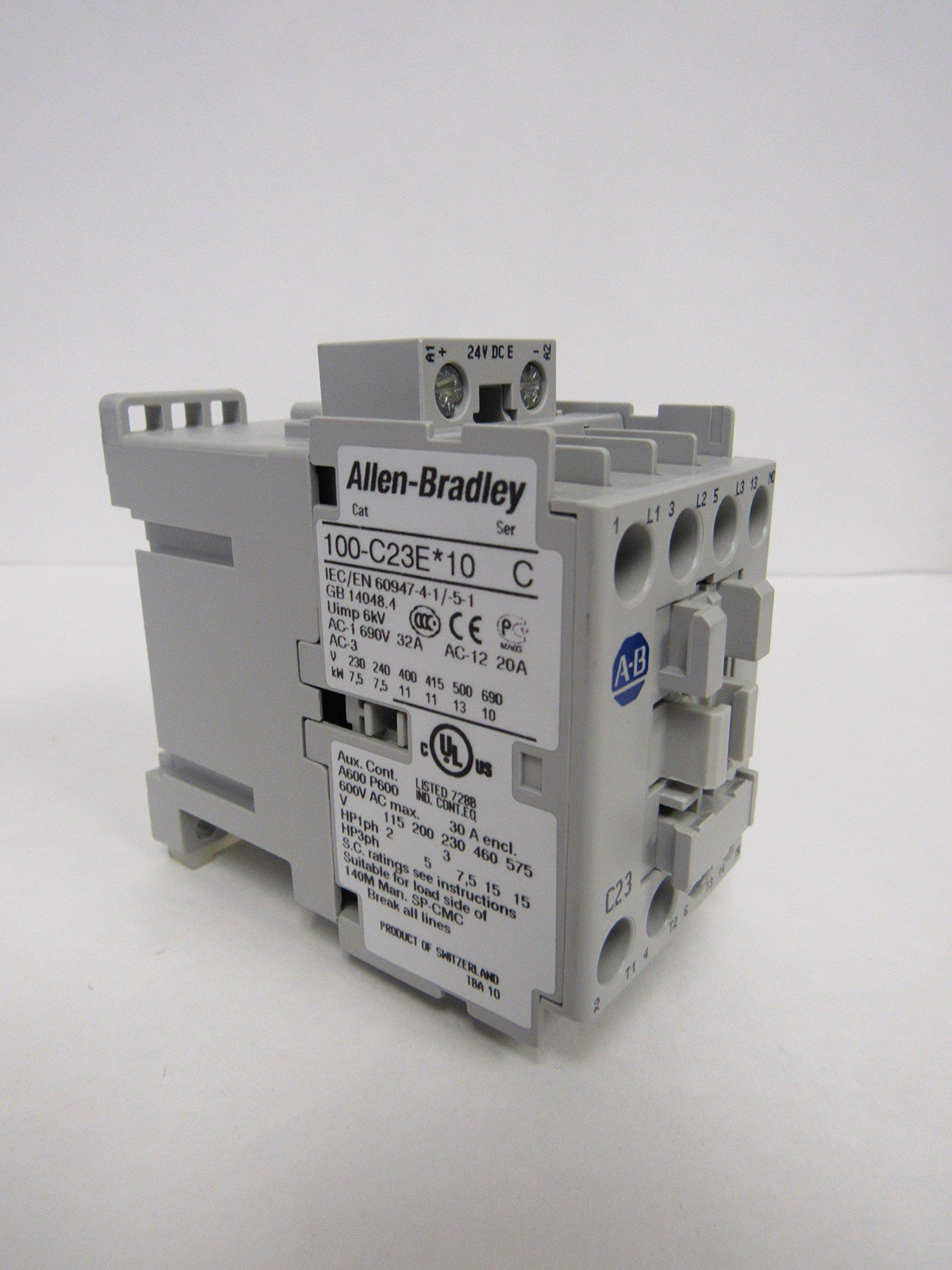 ALLEN-BRADLEY IEC 100-C23EJ10 STANDARD CONTACTOR 23 AMP 24VDC by Allen-Bradley (Image #1)