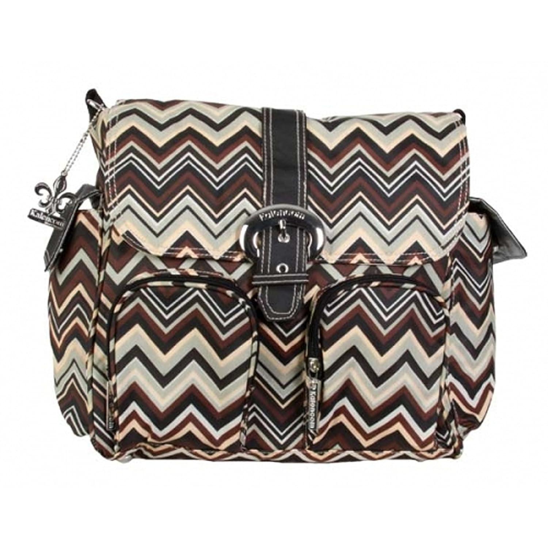 Kalencom - bolsa de pañales Double Duty, con revestimiento impermeable, Brown (zigzag Negro/marrón) 56443