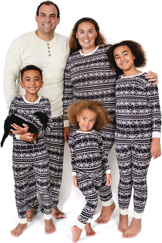Burt's Bees Baby Family Jammies, Holiday Matching Pajamas, 100% Organic Cotton PJs, Frozen Fair Isle, Womens Medium