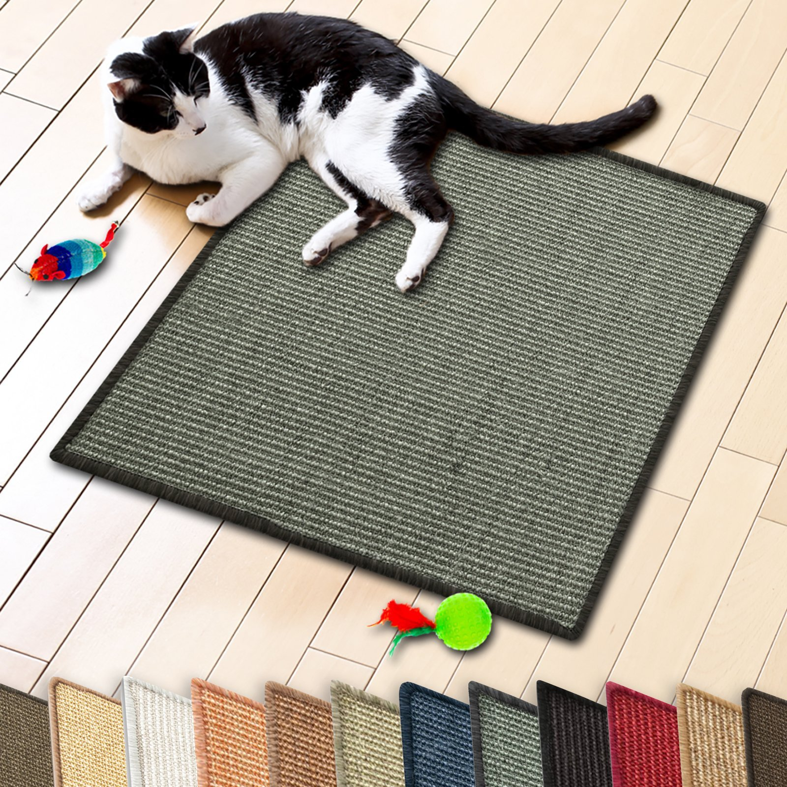 casa pura Sisal Cat & Kitten Scratching Mat | Multiple Colors & Sizes Available