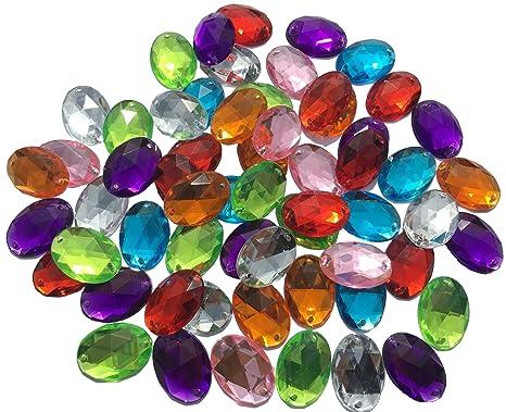 d696438dd05d ovalada 25 mm grandes multicolor reluciente piedras para coser brillantes  piedras para coser (redondas acrílico
