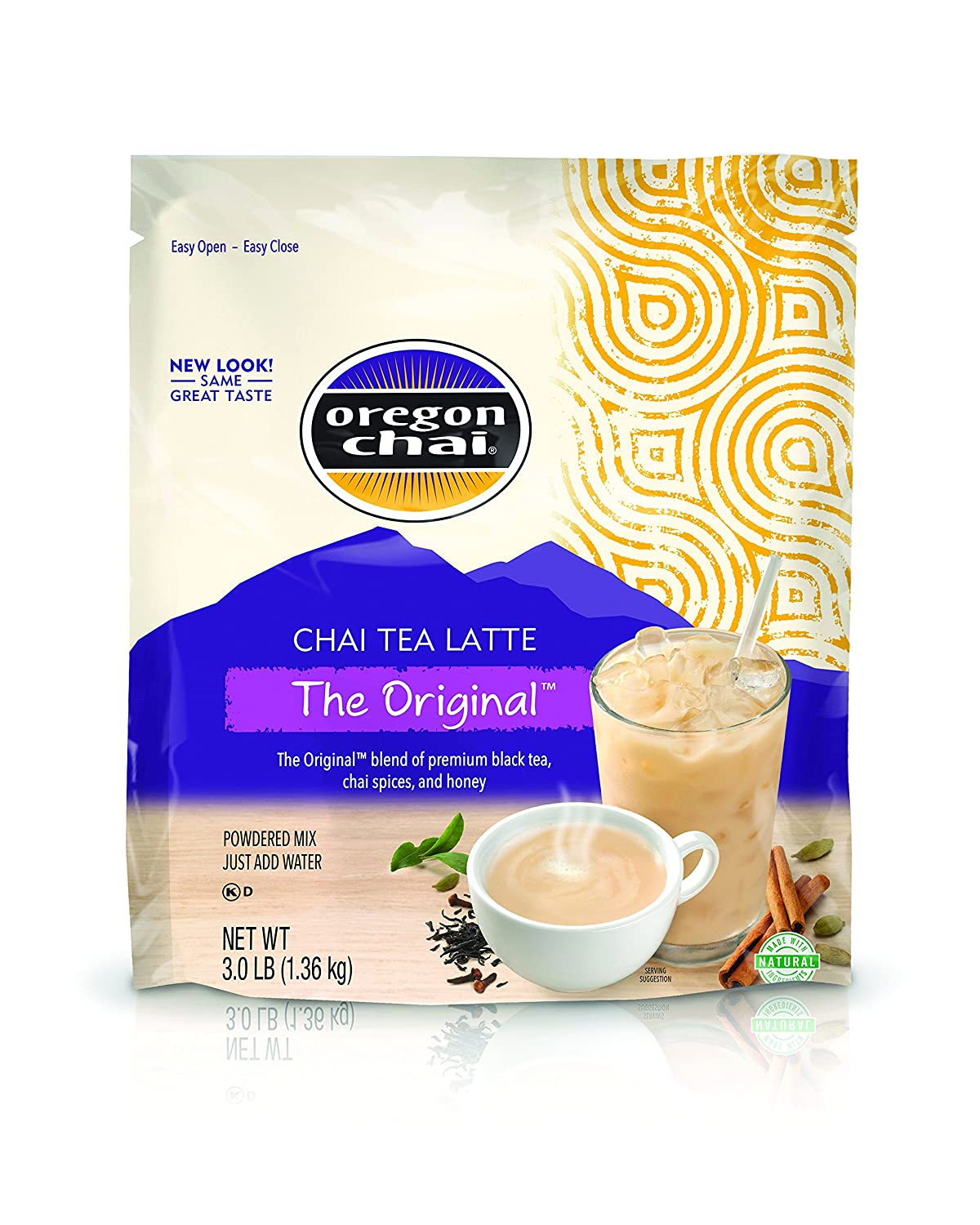 Oregon Chai The Original Chai Tea Latte Mix 3 Pound, Bulk Powdered Spiced Black Tea Latte Mix For Home Use, Café, Food Service