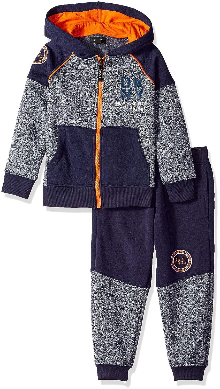 DKNY Boys Central Park Fleece Hoody Jog Pant Dress Blues 2T DB/_0408