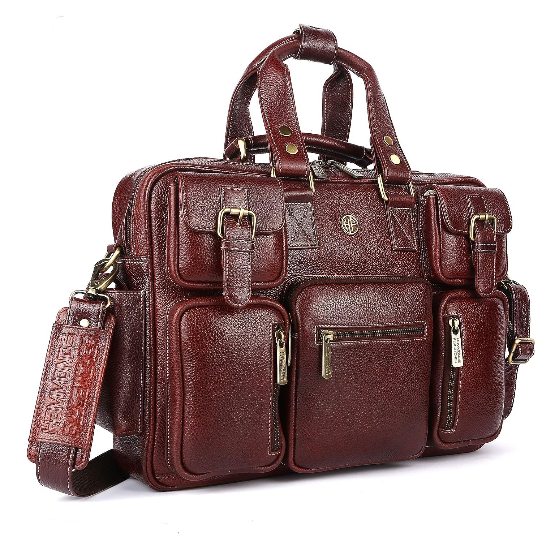 Hammonds Flycatcher Leather 15.6 inch Laptop Messenger Bag LB190BRN