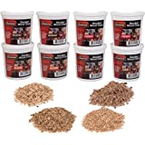 Camerons Wood Smoking Chips Value Gift Set - Set of 8 Pints (0.473176 L) Extra Fine Cut Sawdust Smoker Chips (2 Oak, 2…