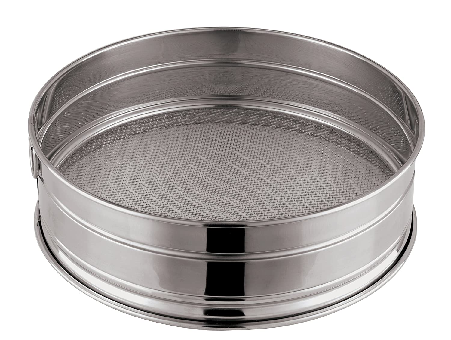 Paderno World Cuisine 11-7/8-Inch Stainless-Steel Coarse Mesh Flour Sieve, 12 Perforations 12606-30