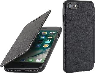 StilGut Book Type sans Clip, Housse iPhone 8 & iPhone 7 en Cuir. Etui de Protection à Ouverture latérale pour iPhone 8 & iPhone 7 (4.7 Pouces), Noir