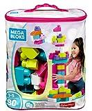 Mega Bloks Big Building Bag 80-Piece, Pink