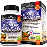 Turmeric Curcumin Sleep Aid with Melatonin - Natural Sleeping Pills with Valerian Root & L Theanine for Insomnia…