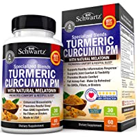 Turmeric Curcumin Sleep Aid with Melatonin - Natural Sleeping Pills with Valerian Root & L Theanine for Insomnia - Promotes Relaxation & Restful Sleep - Formulated for Joint Relief with Bioperine