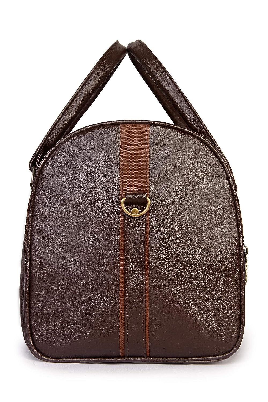 Weekender Bag 30 ltrs Vegan Leather Duffle Bag Travel Duffel Bag Brown