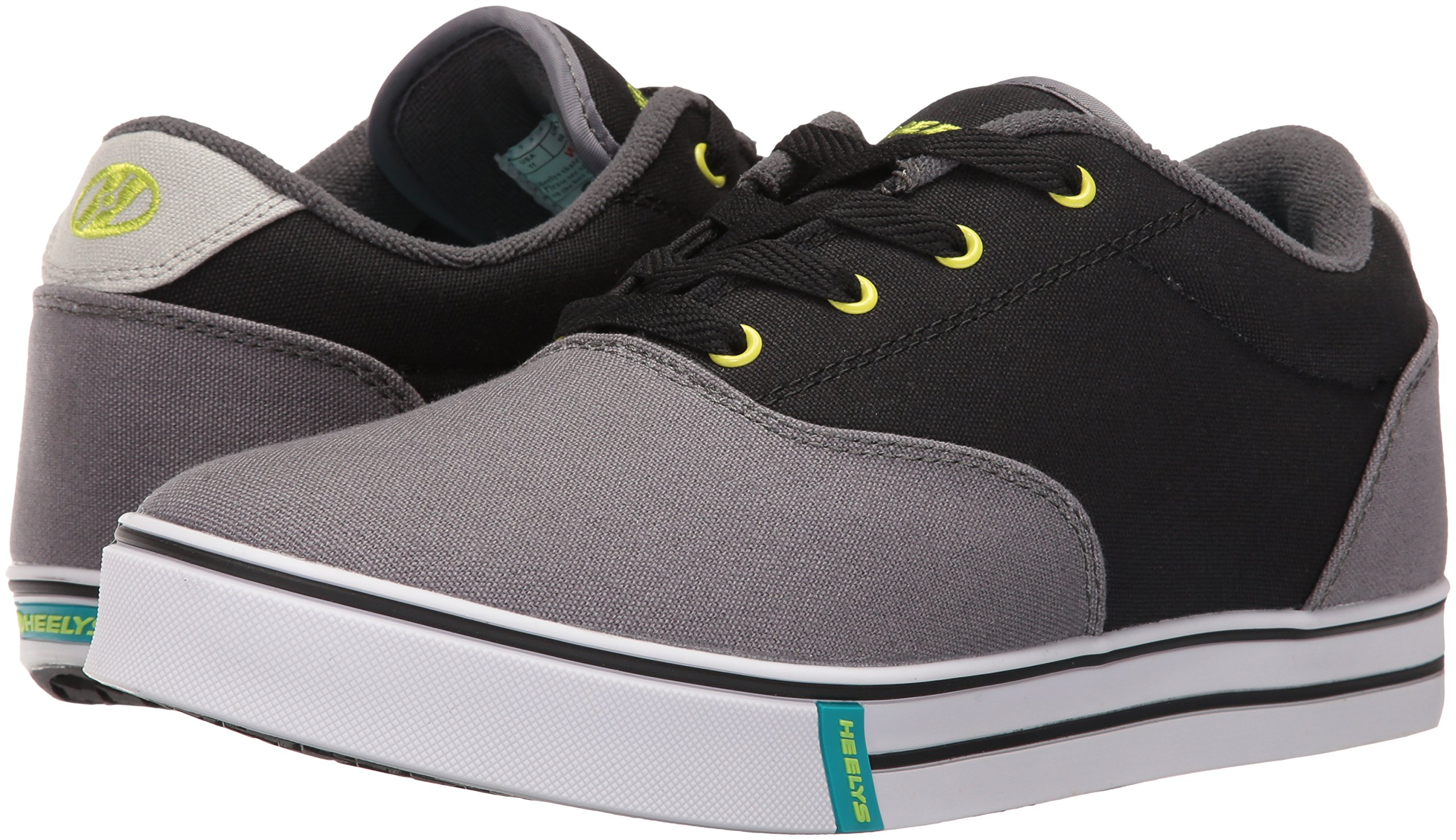 Heelys Men's Launch Fashion Sneaker Charcoal/Black/Lime 10 M US by Heelys (Image #6)