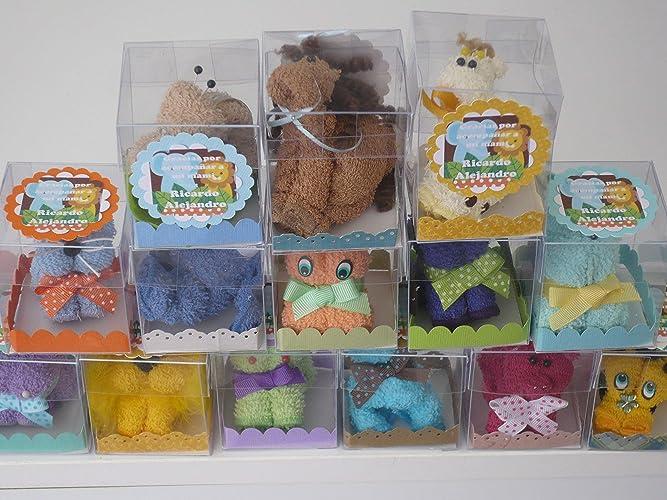 5c58acbe4 Recuerdos Baby Shower animalitos de toalla 10 piezas: Amazon.com.mx ...