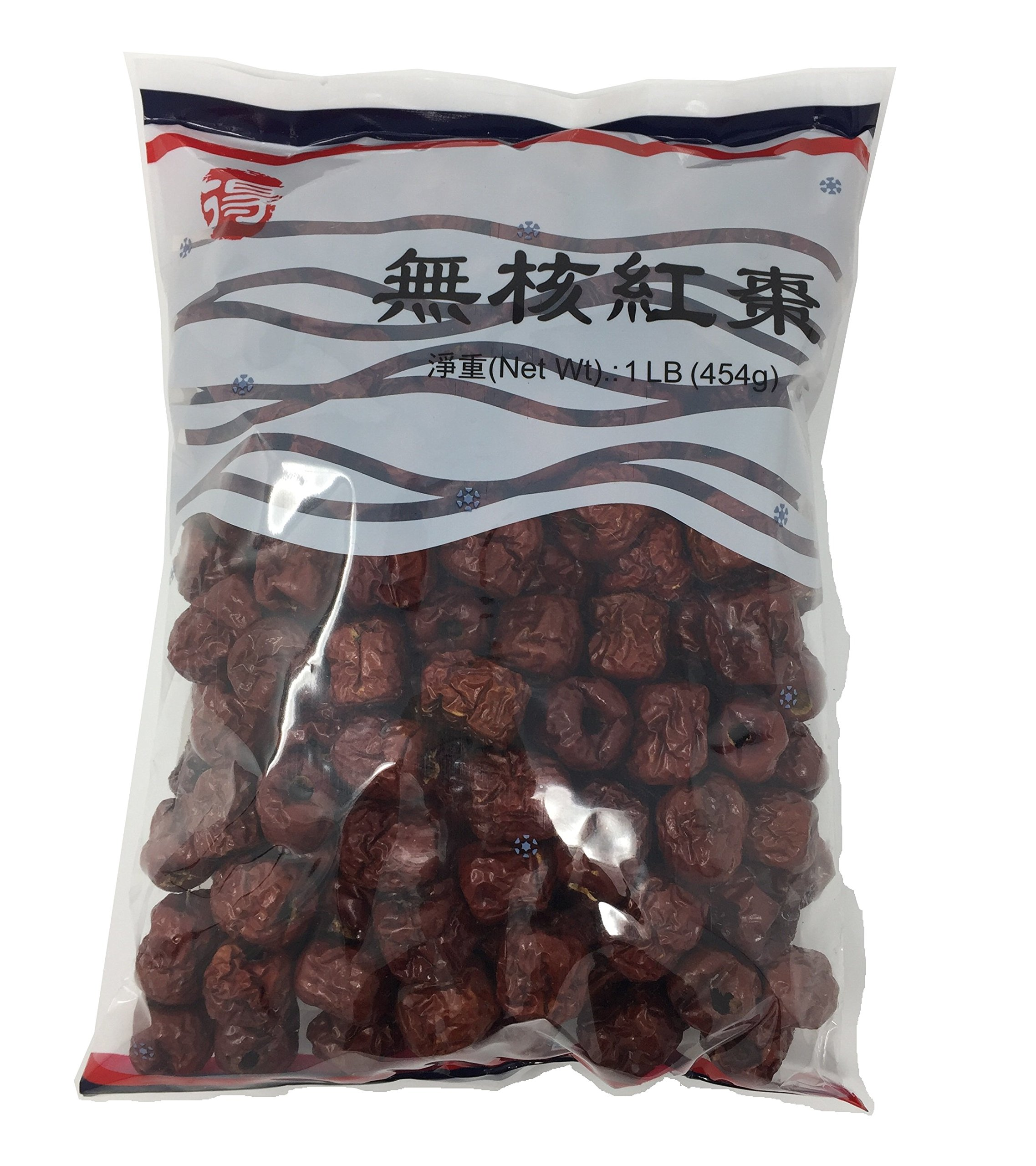 Dried Chinese Red Dates (Jujube) Hong Zao Herbal Healthy Foods (16 Oz) by DE