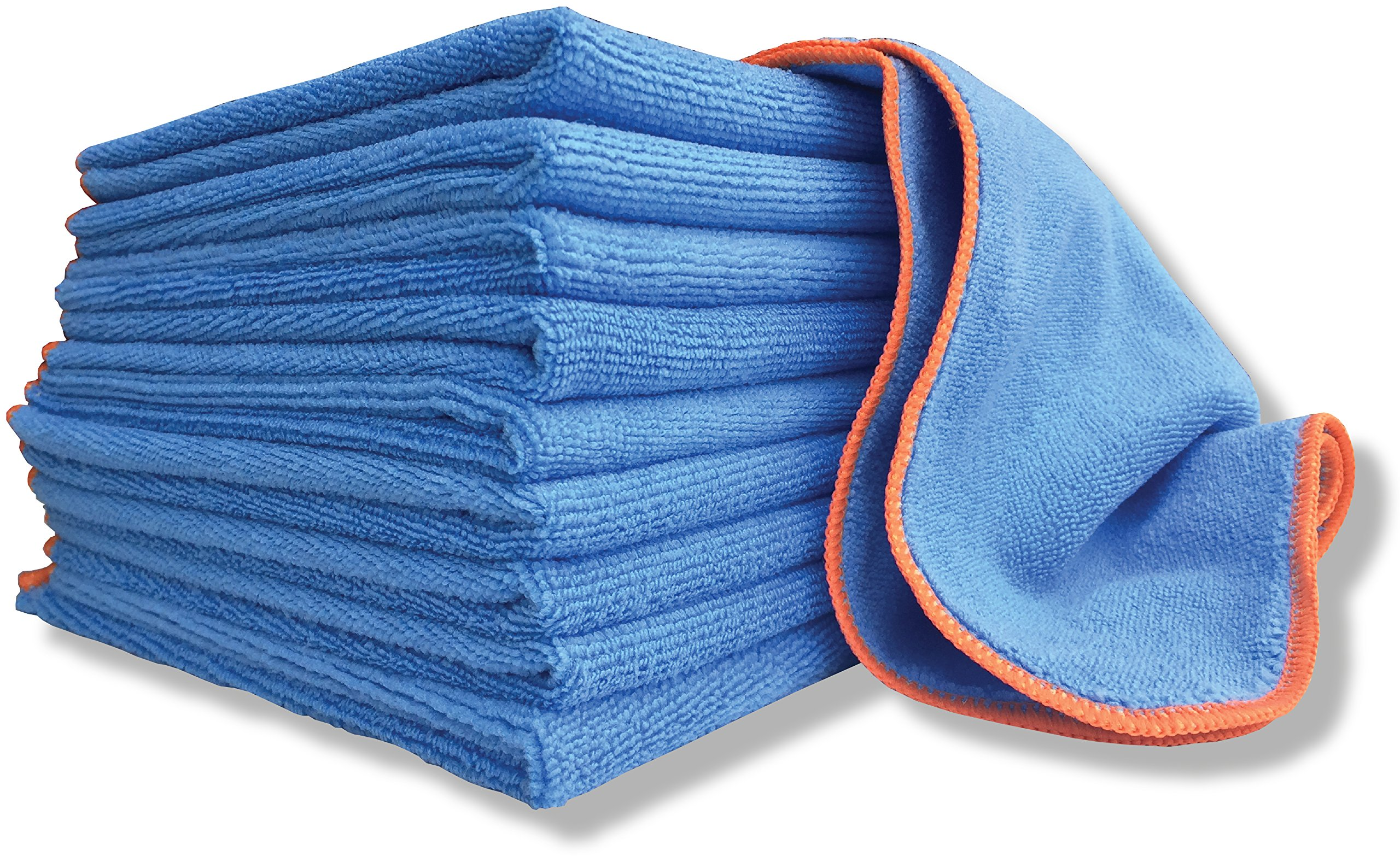 Antibacterial Microfiber Cloth Silver Infused - 10 Pack Large 16''x16'' Towels With EPA Registered SilverClear | Cleans While Killing Bacteria, Odors, Viruses | Safe For Kids & Pets