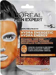 L'Oreal Paris Mascarilla facial en tela piel cansada hydra energetic men expert l'oreal paris