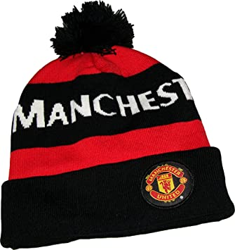Manchester United Official Collection Bobble Hat Amazon Co