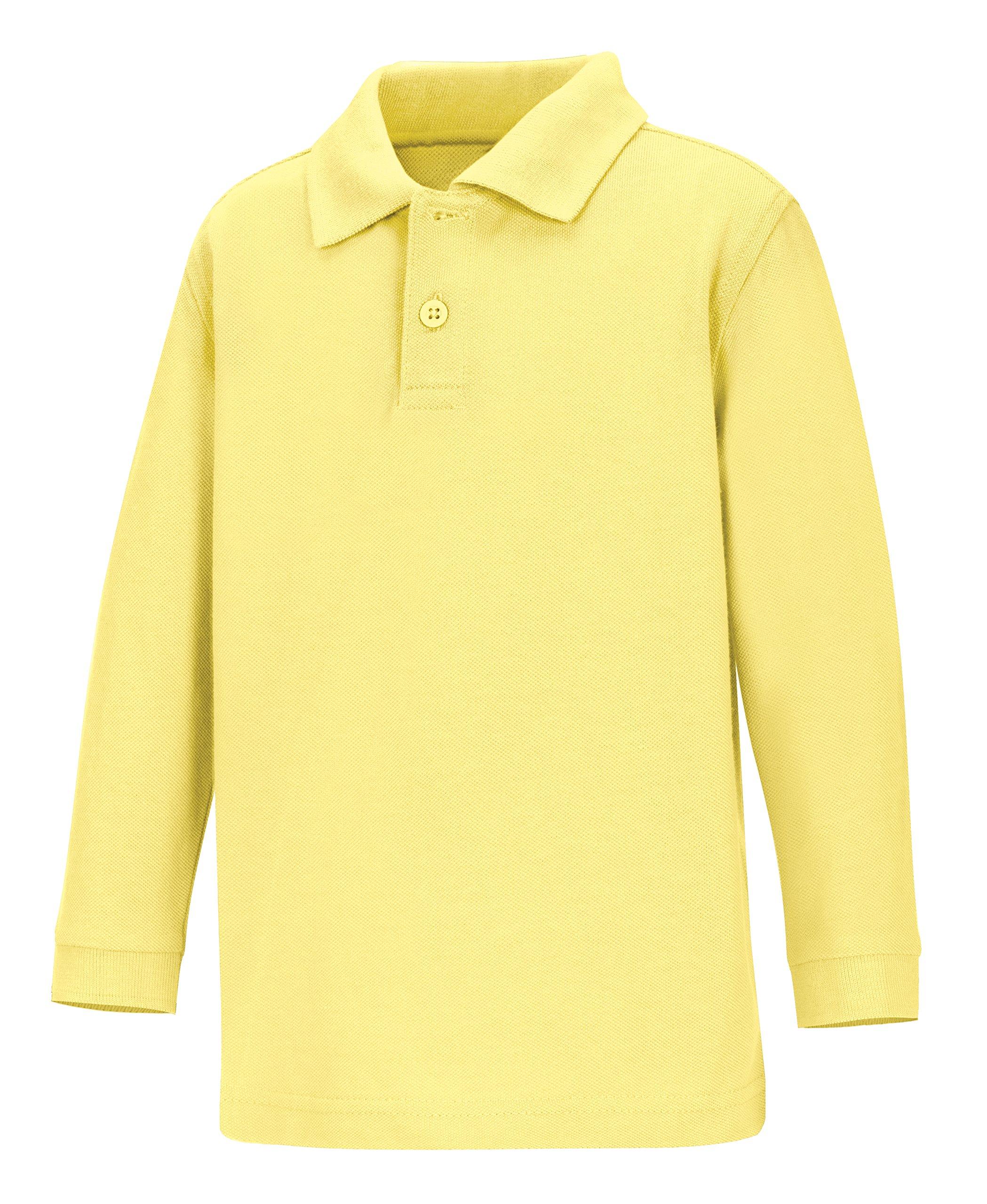 CLASSROOM Little Boys' Toddler Uniform Long Sleeve Pique Polo, Yellow, 2T