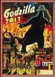 "Wall Calendar 2017 [12 pages 8""x11""] Godzilla Kaiju Horror Sci Fi # Vintage Trash Movie Posters Reprint"