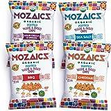 Mozaics Organic Popped Veggie & Potato Chips, 0.75oz Snack Bags (Everything, 12-pack)