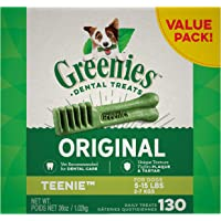 Deals on Greenies Original Teenie Natural Dental Dog Treats (5-15 lb. dogs)