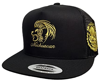 Image Unavailable. Image not available for. Color  Michoacan 2 Logos New  Eagle Logo Federal Hat Black Mesh Snapback fa43a2b54ec8