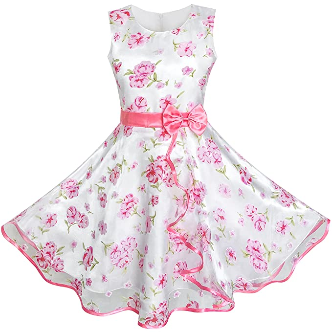0c797815fedd Amazon.com  Sunny Fashion 3 Layers Girls Dress Sunflower Wave ...