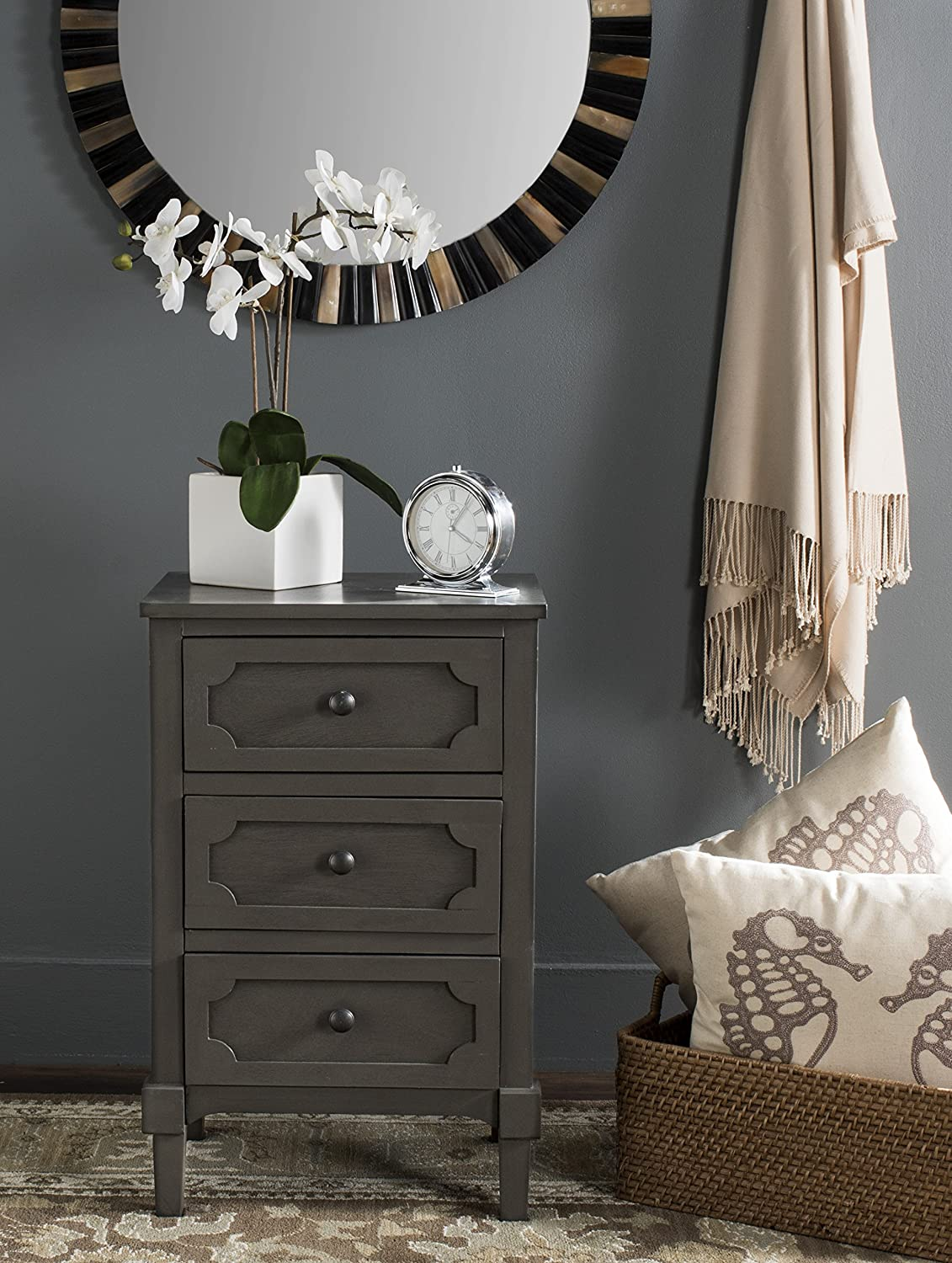 Safavieh American Homes Collection Rosaleen Grey Side Chest: Home & Kitchen