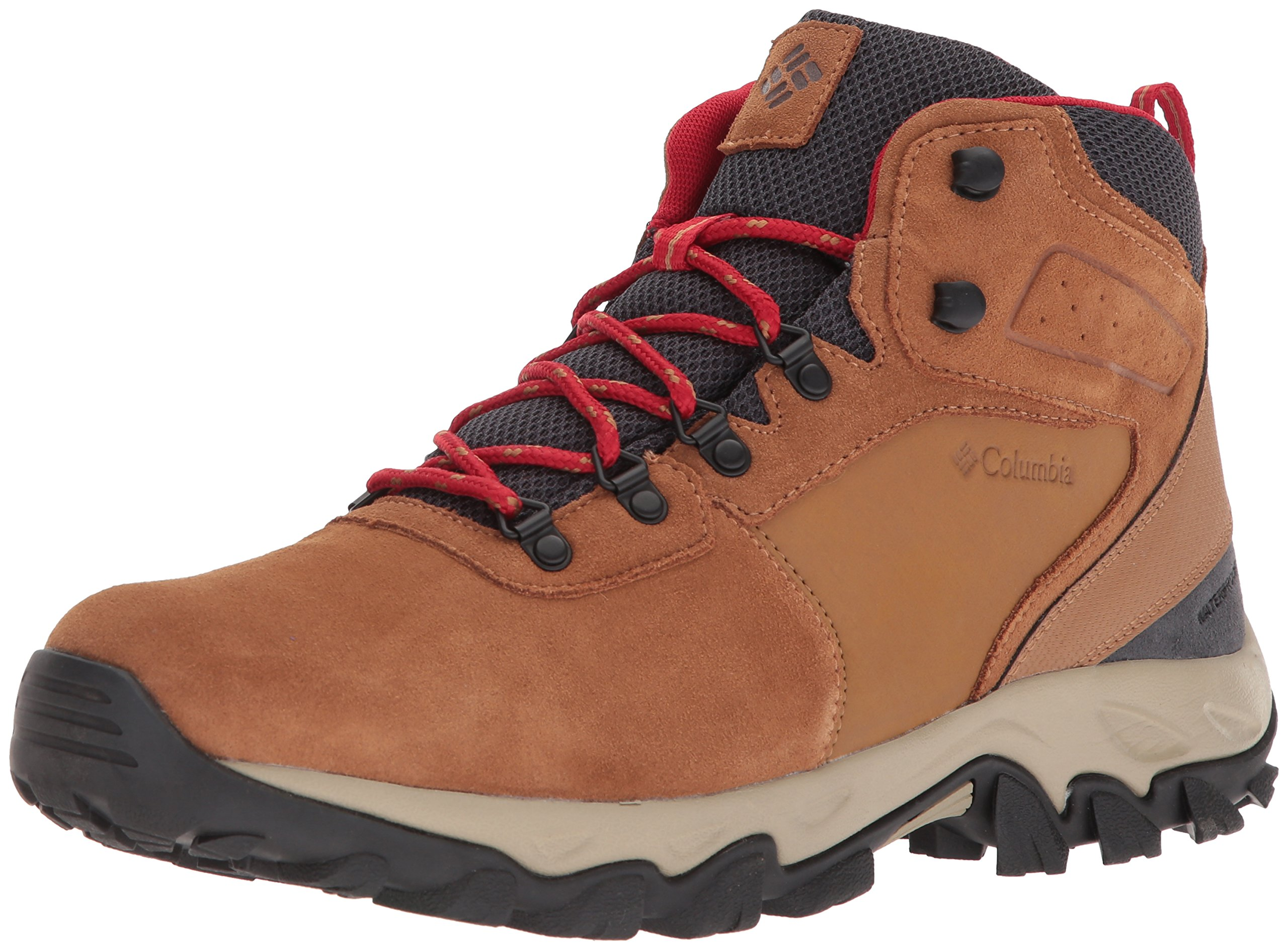 Columbia Men's Newton Ridge Plus II Suede Waterproof Boot Wide, Breathable High-Traction Grip, elk, Mountain red, 7 US